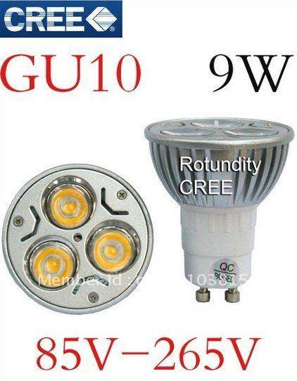 10x LED GU10 9W 110V 240V CREE Warm/Cool White Dimmable Bulb Downlight SpotLight bulb - Shenzhen Sunshine Trade Co., Ltd. store