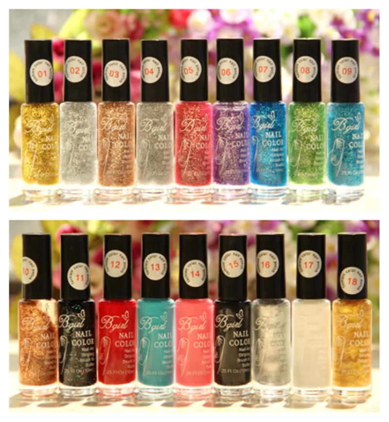 Nail Art Drawing pen Gel Candy Color Nail Enamel Polish UV Led Nail Polish Design 10ml(China (Mainland))