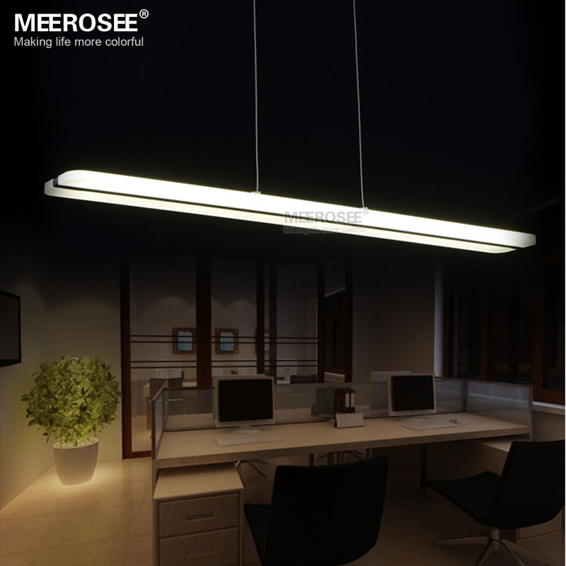 LED Chandelier Light Fixture Lustre White Acrylic luminaire Lamps Rectangle Lights Hanging Lighting Living Dining Room Bedroom <br><br>Aliexpress