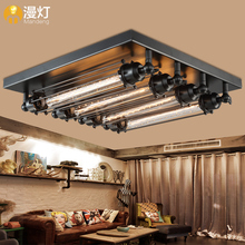 Diffuse light American country living room dining room bedroom lamp and metal punk four head lamp(China (Mainland))