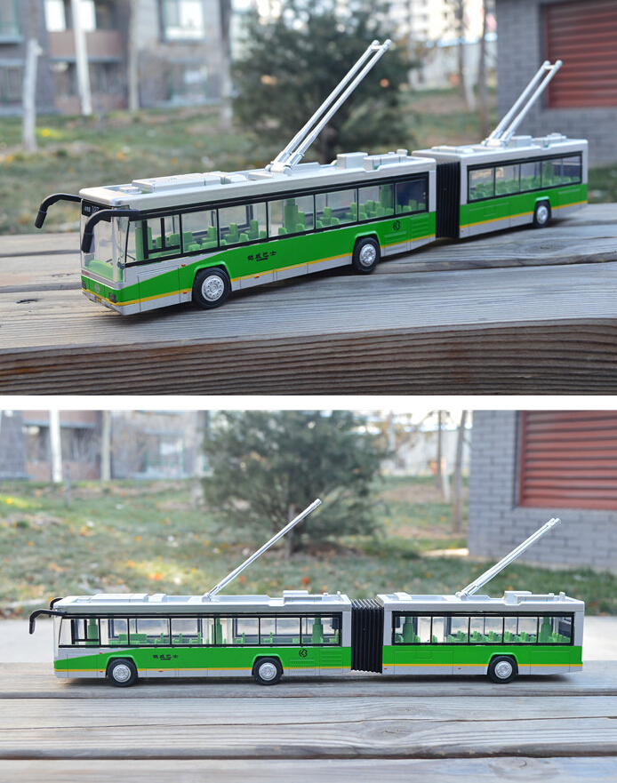 Free Shipping Three colors bus four door double lengthen scania bus kids oyuncak alloy car model juguetes christmas gift(China (Mainland))
