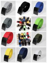 U119 Free Shipping Fashion Unisex Plain Webbing Mens Boys Waist Belt Waistband Casual Canvas Belt