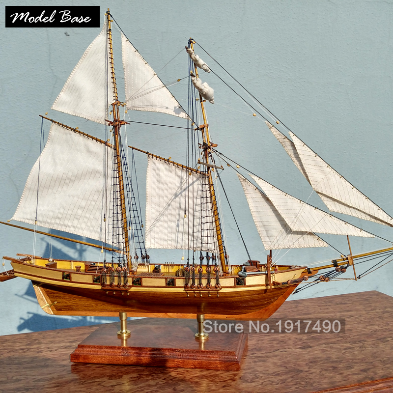 Wooden Ship Models Kits Educational Toy Model Boats Wooden 3d Laser Cut Model-Ship-Assembly Diy Train Hobby Scale 1:96 Harvey(China (Mainland))