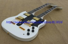 Buy New! Double necks SG snow white 12/ 6 String electric guitar Musical Instruments,gold parts,free shipping for $405.00 in AliExpress store
