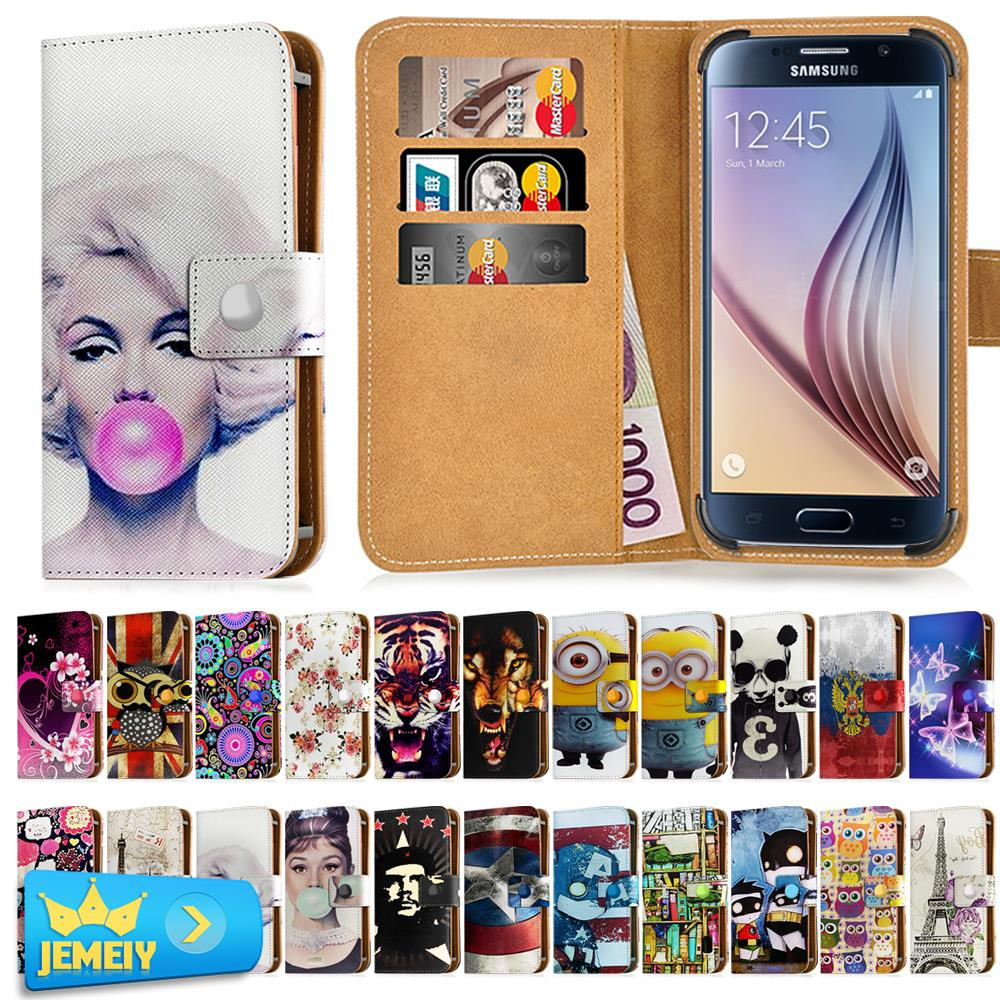 Universal Cover For Samsung Galaxy Core i8262 i8260 /S Advance i9070 Case Flip Wallet Adjustble Leather Cover bag Small Size