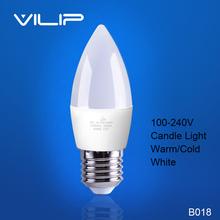 Hot sale led candle light 3W 5W E14 E27 SMD2835 bulb Cold White candle light lamp bulb Chandelier crystal lamp 110V-240V b018(China (Mainland))