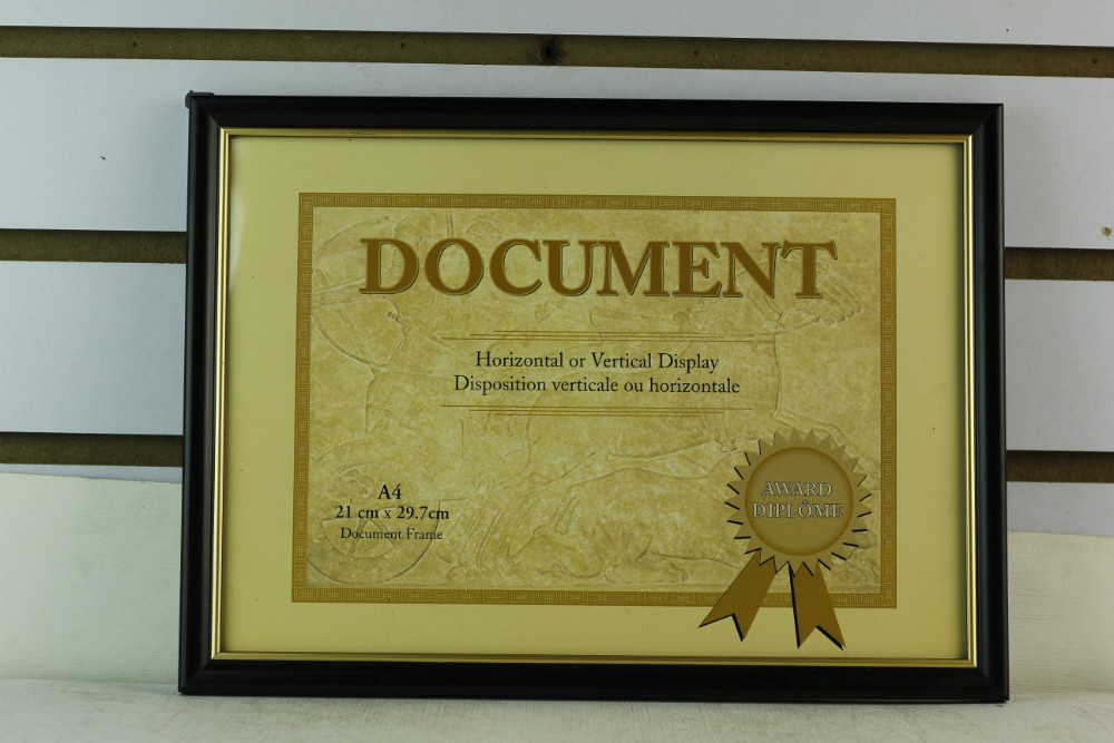 Plastic A4 (21x29.7cm) Document Frame, Holds A4 Certificate(China (Mainland))