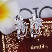 E351 Wholesale 925 sterling silver earrings , 925 silver fashion jewelry , shining earrings E351 /cdxakvea cdwakvda(China (Mainland))