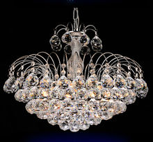 Traditional crystal chandeliers lighting Silver Palace light Luxury Hotel lamp for bedroom Guaranteed 100%Free shipping 9042-550(China (Mainland))