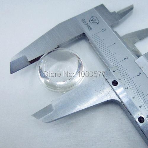 50pcs lot semi circle Plano convex LED Lenses 23mm Optic Lens Grade PMMA For Lens Reflector