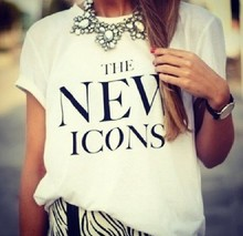 2015 summer cotton graphic letter printed funny tshirts women white black tops for girls woman men unisex female plus size(China (Mainland))