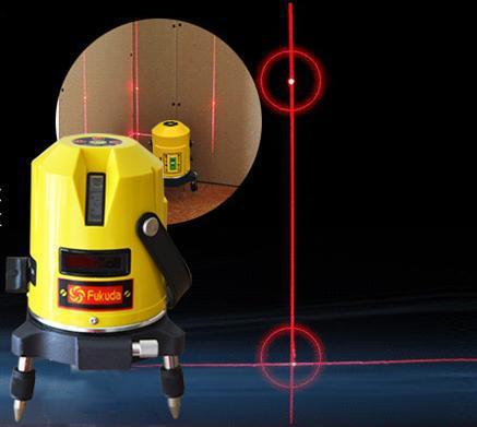 Free shipping professional fukuda 5 lines 3 points rotating laser level(China (Mainland))