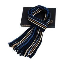 Wholesale Custom Made High Quality 2015 Autumn Winter Hot Fashion Men's Wool Stripe Scarf Casual Warm Thick Scarf  1000pcs/lot(China (Mainland))