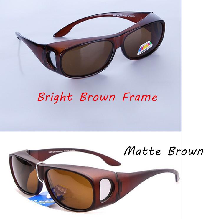 2Pairs/lot Fit over eyeglasses Polarized wraparound Glasses Sunglasses Goggle UV400 Fitovers Sunglasses Unisec(China (Mainland))