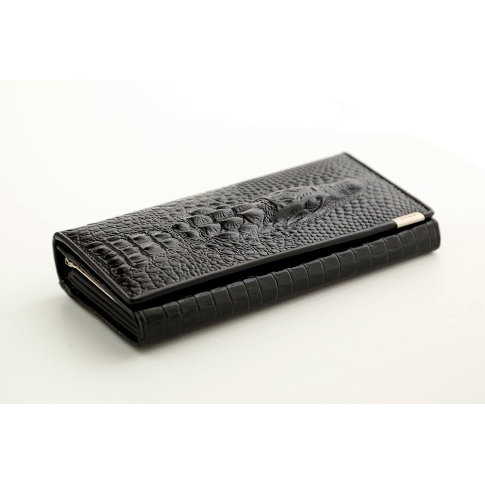 designer wallet with money clip cjai  split Leather Women Wallet Crocodile Head Cow Leather Wallet Fashion  Women Purse 3D Long designer Money