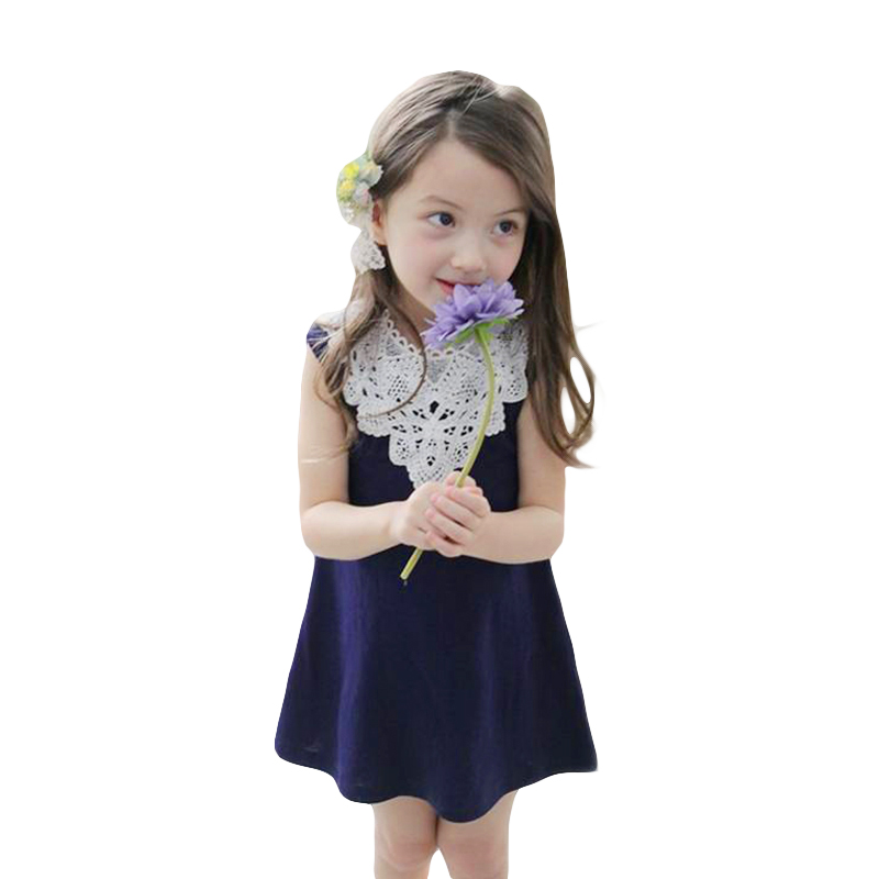 New 2016 Girl Lace Dress Cotton Fashion Baby Kids Costume Summer Style Children Girls Princess Party Dresses Clothing CC148-HDR(China (Mainland))
