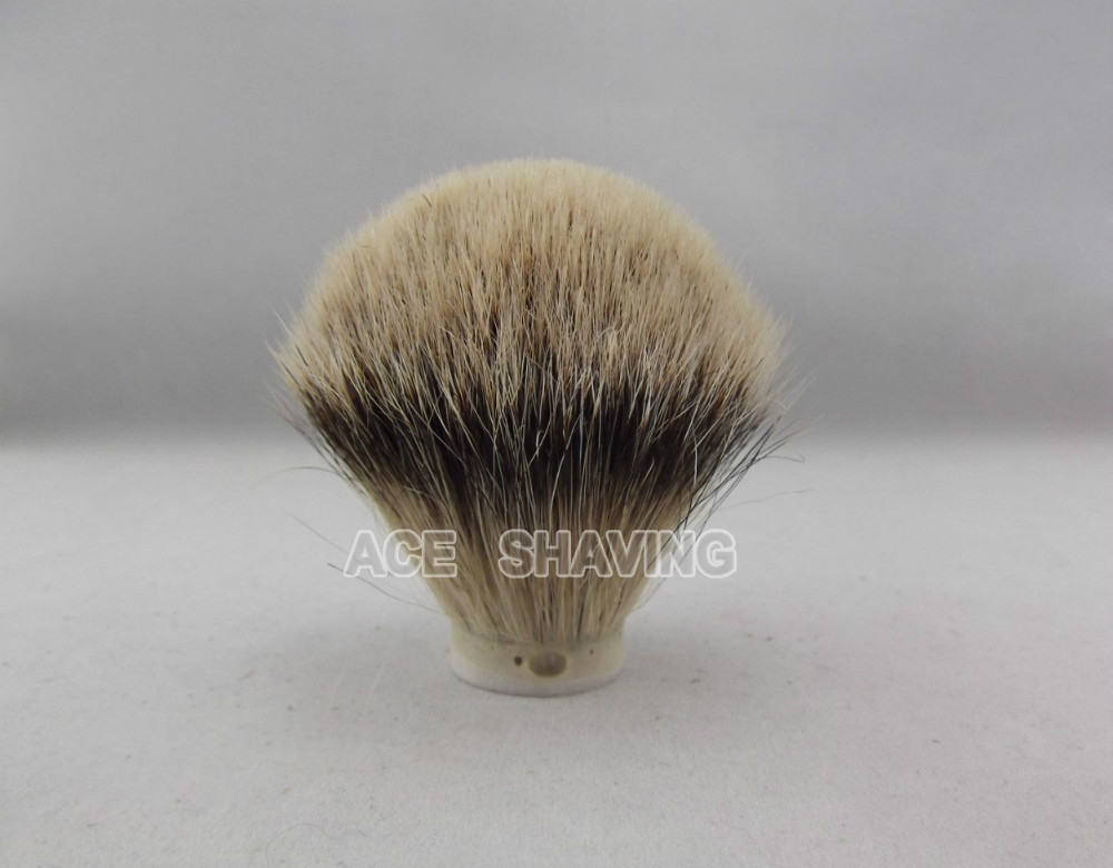 20 Pieces/Lot Bulb Shape Silvertip badger hair shaving brush knot(knot size 24/65mm)(China (Mainland))