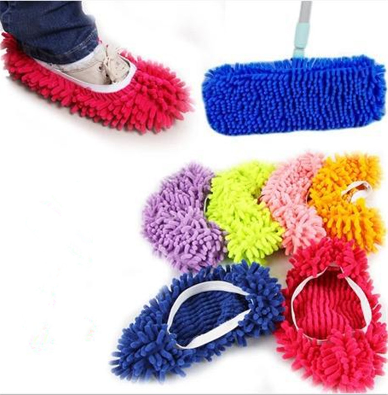 1 Piece Microfiber Mop Floor Cleaning Lazy Fuzzy Slippers House Home Flooring Tools Shoes Bathroom Kitchen Cleaner(China (Mainland))