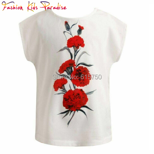 Clearance 2014 Spring Autumn Girls Blouse Floral Fashion Children Shirts Blouse Cotton Casual Kids Blouses for Girl