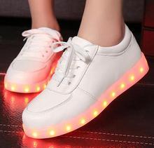 2016 LED Women Lumineux Chaussure Homme Adults Light Up Femme Lumineuse Schuhe Schoenen Couples Casual Men Shoes For Man 1949