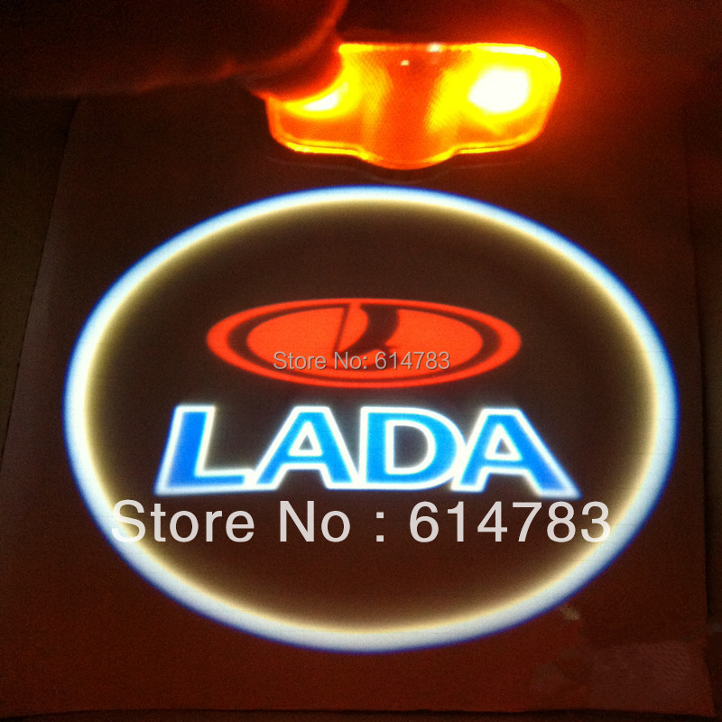 New generation Led door logo light projector, Ghost Shadow welcome light laser lamp for Lada(China (Mainland))