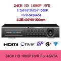 New Products 24CH 1080P NVR 960P CCTV Video Audio Voice Recorder Camera ONVIF Network 24 Channel