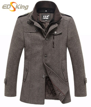 Men Trench Coat  Wool Jacket Men Pea Coat Hombres Male Manteau Homme Winter Windbreakers Cappotto Sobretudo Down Jacket Casaco(China (Mainland))