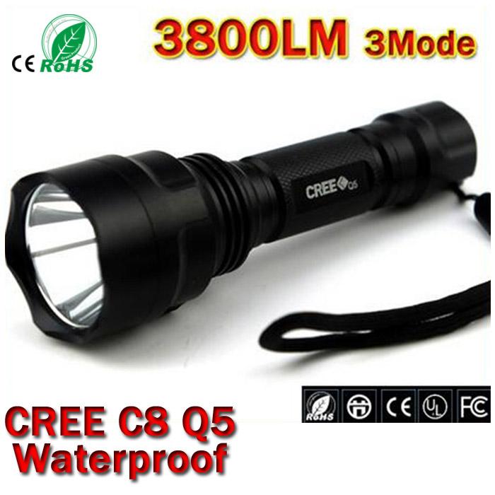 Гаджет  LED hunting Flashlight Torch Hight Power Cree Led Torch C8 Cree light lantern nitecore Waterproof For 1x18650 None Свет и освещение