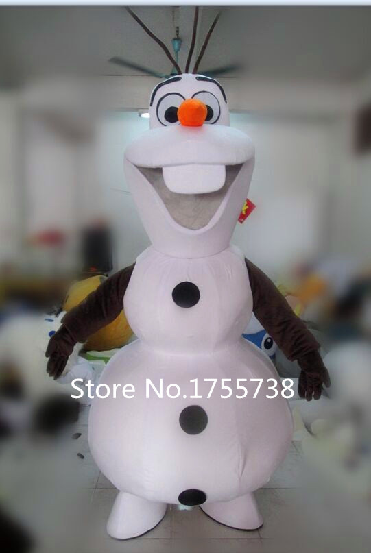 Smiling Olaf Mascot Costume Cartoon Character Costume Free Shipping(China (Mainland))