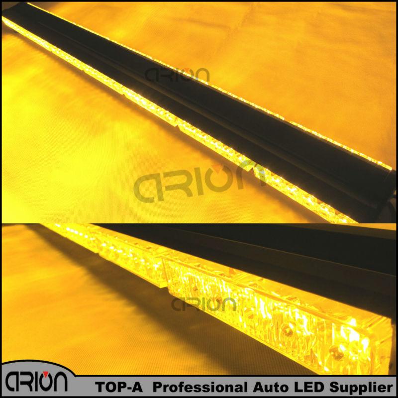 "1050MM 41"" Both Side 6*14 84 LED Car Truck Roof Flashing Beacons Emergency Lighting Strobe Warning Light Bar Lights Amber(China (Mainland))"