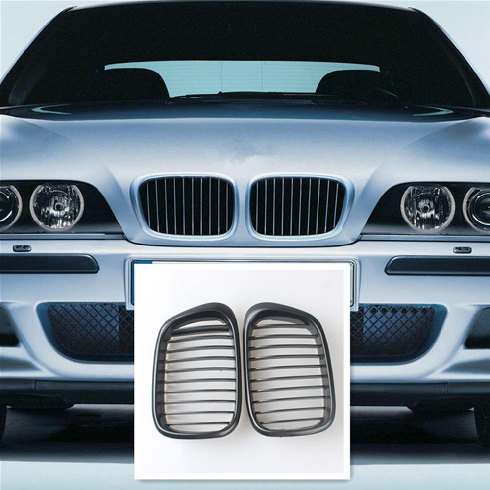 Racing Grills Matte Black Wide Front Kidney Grille Grill For BMW E39 525 528 530 540 M5 98-03 <br><br>Aliexpress