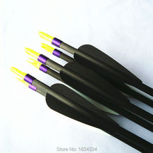 Replaceable 30 pure Carbon arrow spine 400 500 600 completed arrow Hunting practice archery for bow