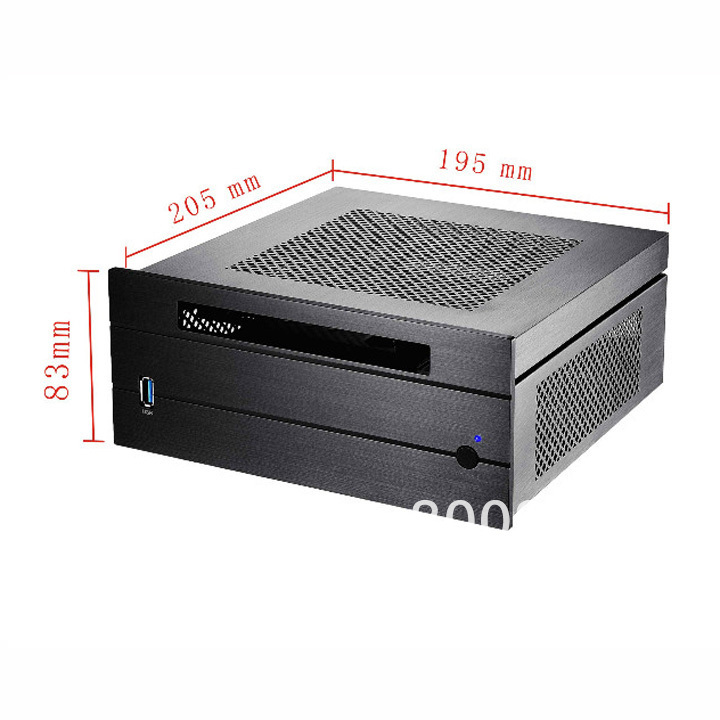 Aluminum MINI ITX chassis with a laptop optical drive USB3.0 ultra-small chassis HTPC chassis(China (Mainland))