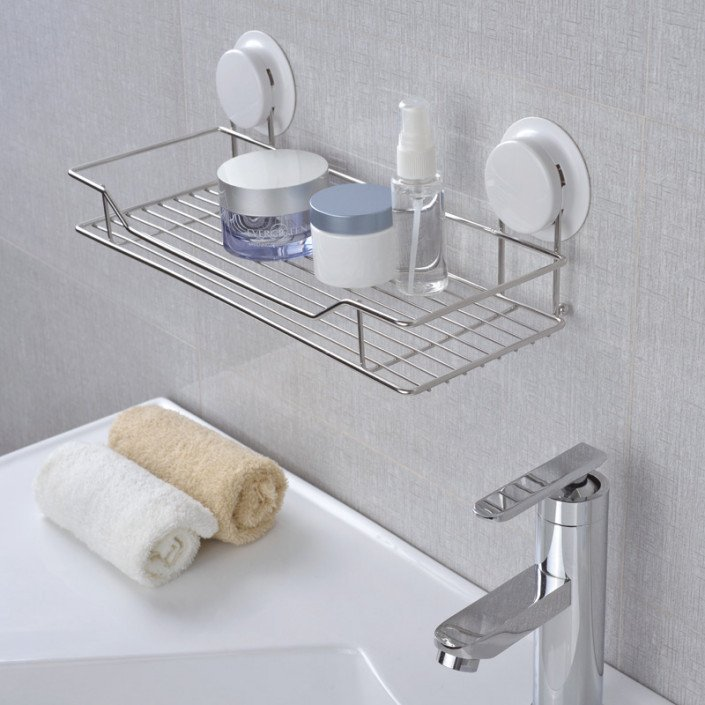 Garbath Suction Bathroom Shelf Wall Mounted Unit Stainless