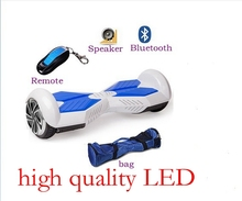 7″ two smart balance wheel balancing scooter skate board unicycle hoverboard bluetooth speaker w/ LED remote electric control