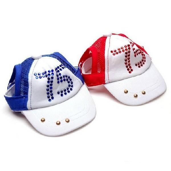 Pet Hat Dog Headdress Pet Product Cute Fashion Dog Supplies Diamond Caps Sun Hats Baseball Caps Size Adjustable 1pcs/lot(China (Mainland))
