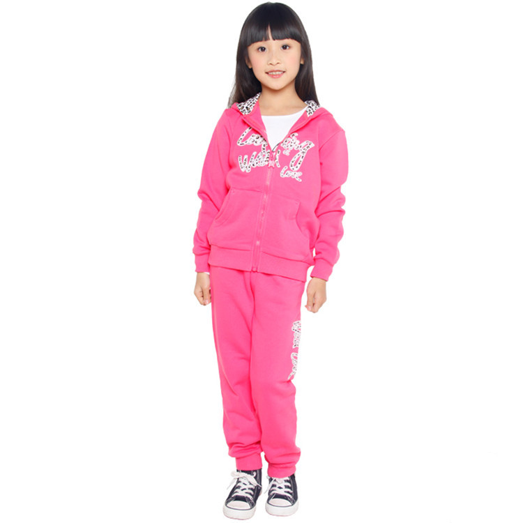 2015 spring and autumn new style baby girls active clothing sets little girls casual clothing YGS51965(China (Mainland))
