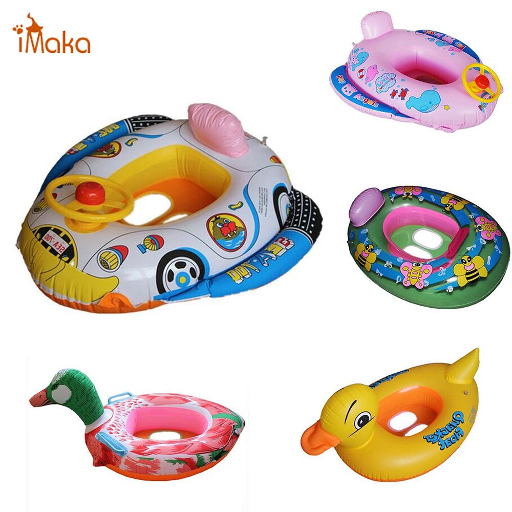 Cute Animal Swimming Ring Kids Baby Child Inflatable Swimming laps Pool Swim Ring Seat Float Boat Water Sports(China (Mainland))