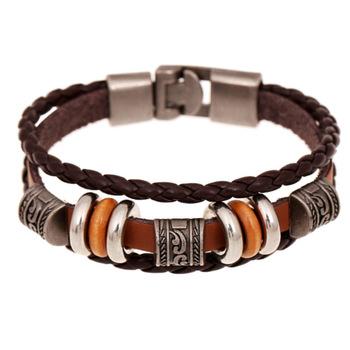 Sh-s80016-3 кожа браслеты женщины в модный браслеты элегантный кожа браслеты коричневый ...