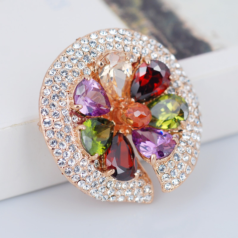 Quality austria crystal fashion colorful brooch corsage  high quality brand jewellery gift<br><br>Aliexpress