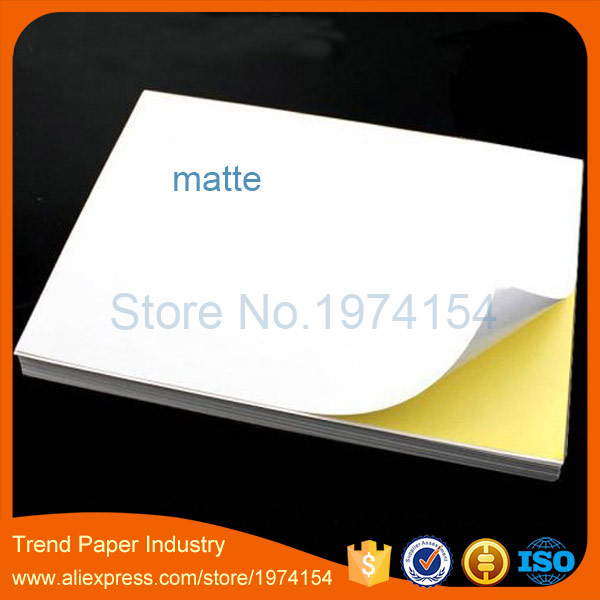 Low Price 20 Sheets A4 Self-adhesive Label Sticker Matte Surface Paper 297mmx210mm For Inkjet Printer(China (Mainland))