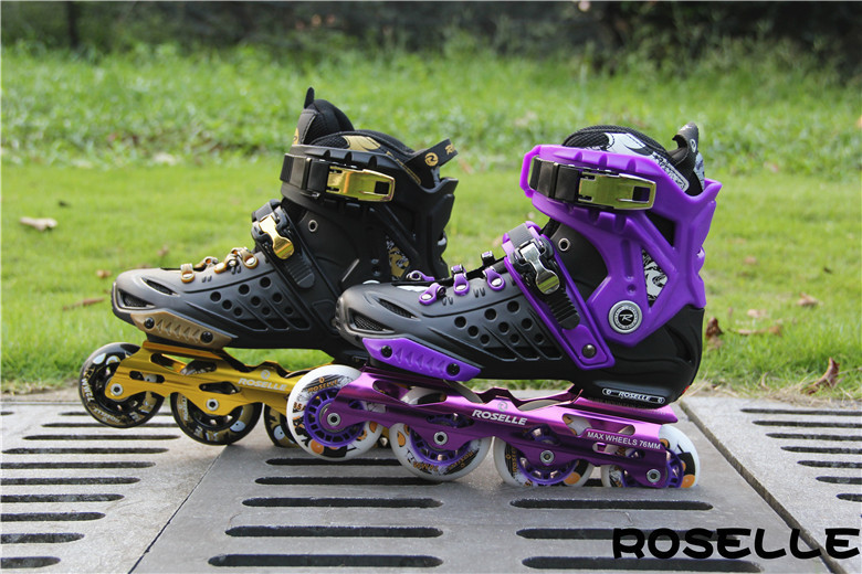Local tyrants gold adult skates Carbon fiber rollerblading male and female adult roller skates(China (Mainland))