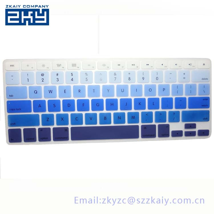 """good quality Colorful Silicone Laptop Notebook Keyboard Cover Skin Protector For Apple 11.6"""" 13.3"""" 15.4"""" MacBook Pro Macbook Air(China (Mainland))"""