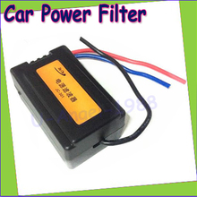 1pc 12v power filter power noise filter suppressor isolator reduce/eliminate for car auto audio power supply noise filter(China (Mainland))