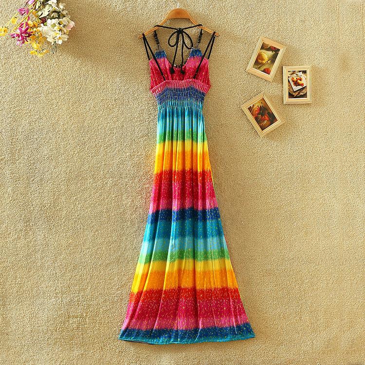 Dresses Patterns 2015 2015 Vestidos Rainbow Pattern