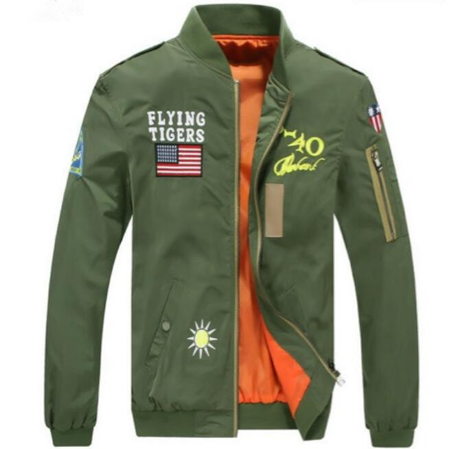 New Arrival Autumn Zipper Casual Coat Veste Homme Sportwear Men Luxury Baseball Jackets Military Slim Fit Coats Pilot Jacket(China (Mainland))