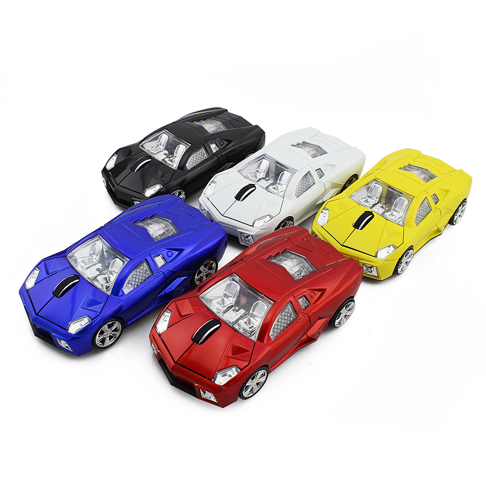 2.4Ghz Optical Mouse PC Laptop Computer Accessories Wireless Mouse Fashion Super Car Shaped Mouse Free Shipping(China (Mainland))