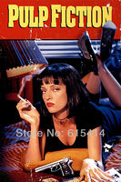 """01 Pulp Fiction movie 24""""x36"""" inch wall Poster with Tracking Number"""