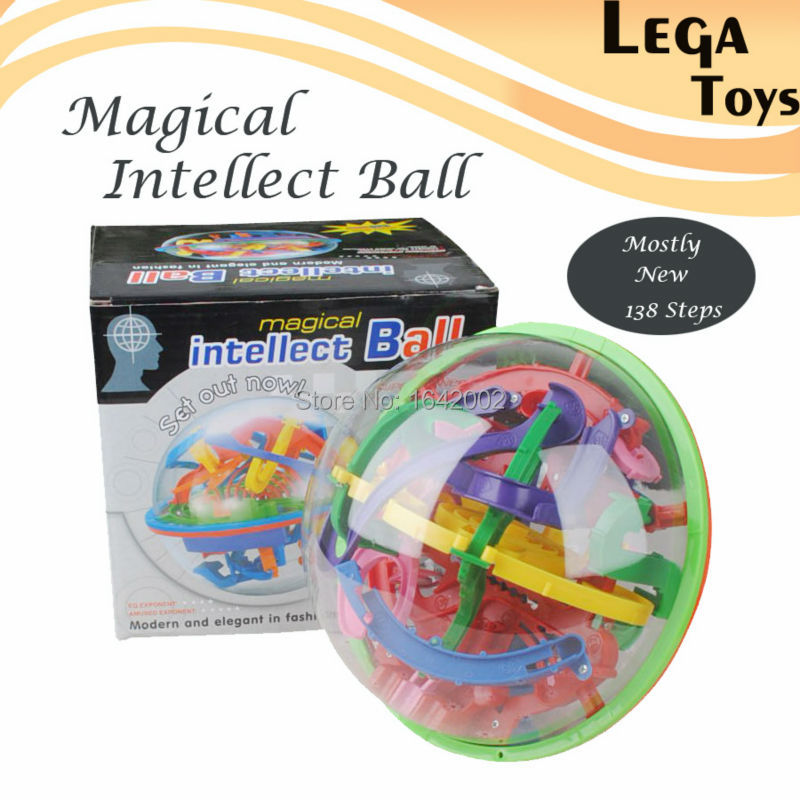 3D Maze Ball 138 Steps 925A Large Educational Magic Intellect Ball Marble Puzzle Game Balance Maze Game Puzzle Toy for Kids(China (Mainland))