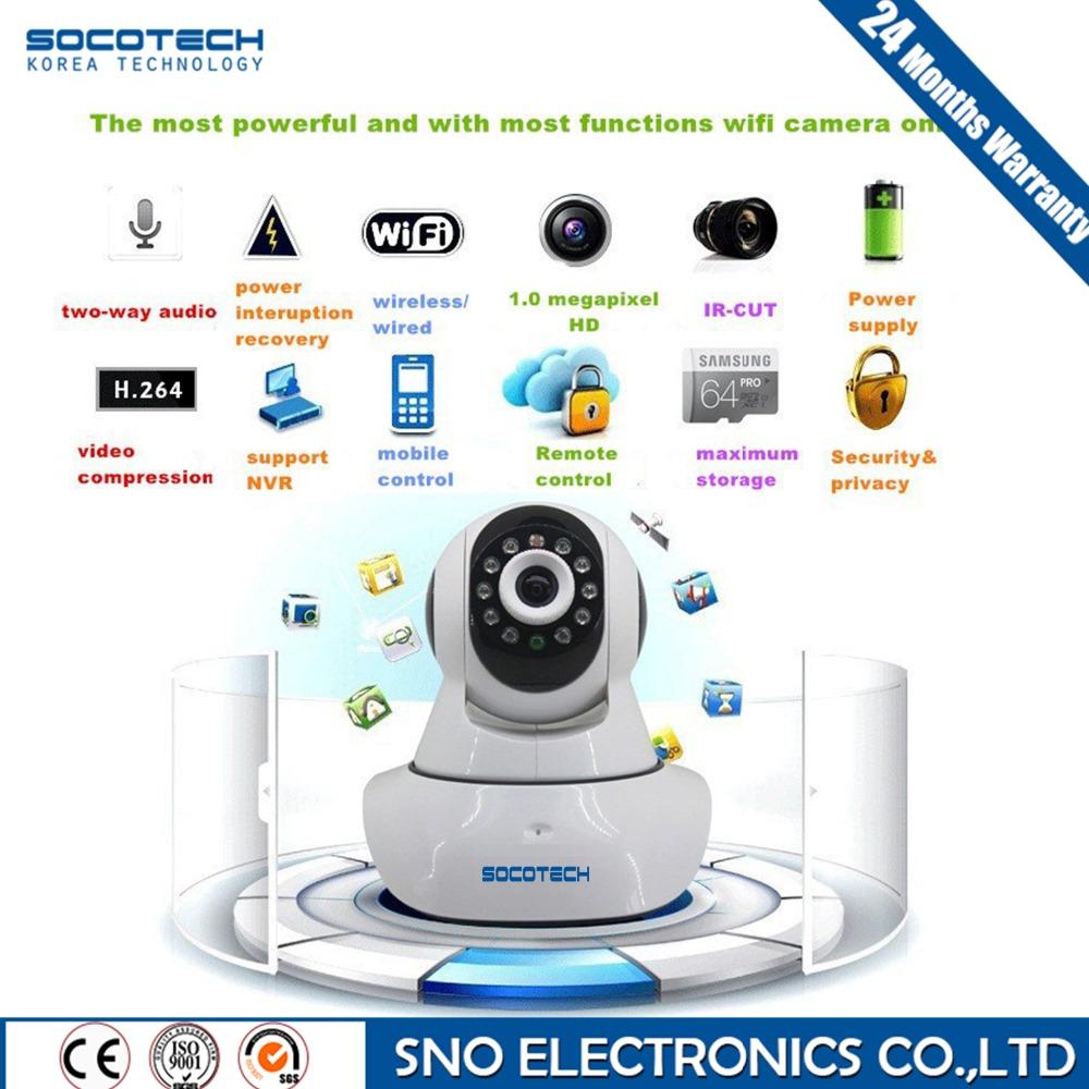 Hot SNO HD IP Camera WIFI 720P Home Security Surveillance System Onvif P2P Phone Remote 1.0MP Wireless Video Surveillance Camera(China (Mainland))